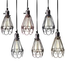 Wire Pendant Light L Cover Retro Vintage Industrial Pendant Light Bulb Guard Wire
