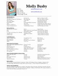 actors resume template acting resume template beautiful 100 actor resume exle