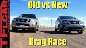 pathfinder nissan 2008 tfl today old vs new nissan pathfinder drag race jeep cherokee