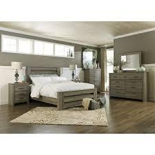 Gabriela Poster Bedroom Set Signature Design By Ashley Zelen Warm Grey Poster Bed Free