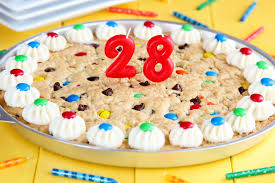 birthday cookie cake he s 28 a cookie cake made simple