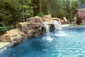 pool waterfalls with image of beautiful swimming pool designs with