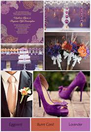 purple and orange wedding theme weddings by lilly