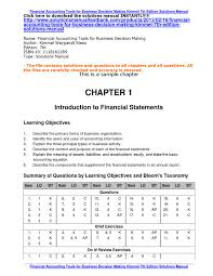 financial accounting tools for business decision making kimmel 7th
