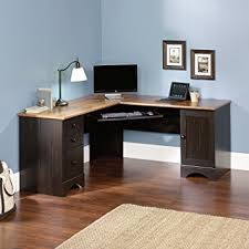 Corner Pc Desk Corner Computer Desk Workstation Antiqued Finish