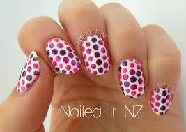 easy dotticure pink u0026 purple dotty nails youtube