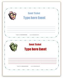 top party ticket template