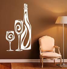 online get cheap kitchen interior design aliexpress com alibaba kitchen design wall stickers interior art mural wine bottle pattern wall decal vinyl glass housewares modern