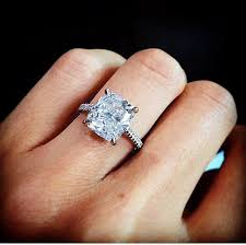 rectangle cushion cut engagement rings 17 best images about engagement rings on halo