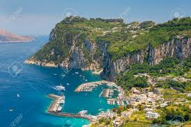 vire cape aerial view of italian island with picturesque