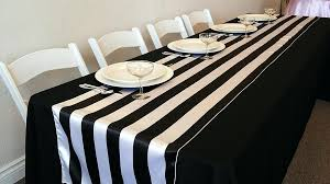 black white striped table runner black and white striped table runners black white striped satin