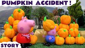 peppa pig play doh halloween pumpkin thomas and friends accident