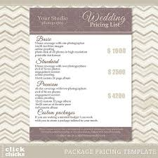 wedding packages photography package pricing list template wedding packages