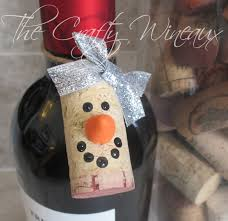choose your color wine cork snowman ornaments wine