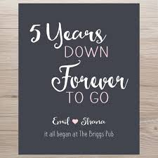 2 year anniversary gifts anniversary gift 5 years forever to go anniversary gift it all