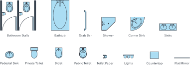 floor plan bathroom symbols floor plan symbols lucidchart