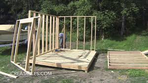 How To Make A Storage Shed Plans by Complete Backyard Shed Build In 3 Minutes Icreatables Shed Plans