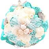 Seashell Bouquet Amazon Com Lillian Rose Coastal Theme Wedding Seashell Flower