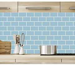 white kitchen cabinets with blue subway tile longking light blue subway tiles peel and stick backsplash stick on tiles kitchen backsplash pack of 5 thicker design