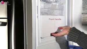 Refrigerator Lg French Door Lg French Door Refrigerator In Door Ice Maker Operation Youtube