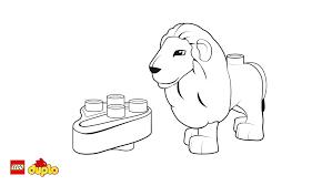 lego duplo lion coloring coloring lego duplo
