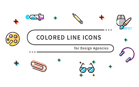 icon design software free download free download colored line icons svg png designbeep