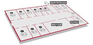 Centre Bell Floor Plan by Woodhouse Park Facilities Scouts