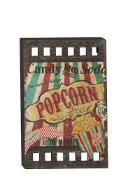 Hollywood Home Decor Vintage Look Movie Concessions Film Wall Art Hollywood Theater