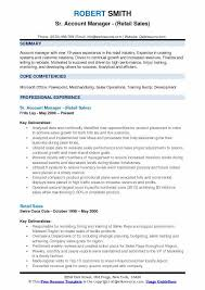 Retail Sales Resume Example by Account Manager Resume Samples Qwikresume
