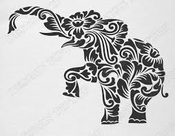 wall stencils etsy flower elephant svg dxf cut file zentangle template tattoo wall decor sticker stencil for walls