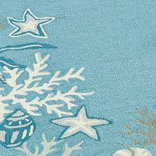 Outdoor Round Rug by Decorating Stunning White Light Blue Starfish Rug Indoor Or