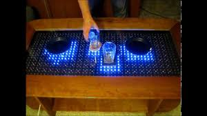 Coffee Tables With Led Lights Coffee Table Reactive Lede Table Arduino With And