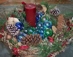 Christmas Dinner Centerpieces - decorating your christmas dinner table