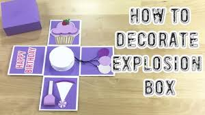 box scrapbook full tutorial how to decorate a happy birthday
