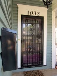 Exterior Door Security Spacious Change Out Your Screen Door With A Stylish Security In