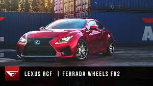 lexus manufacturer wheels 2015 lexus rcf ferrada wheels fr2 matte bronze youtube