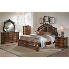 Queen Bed Morocco Queen Bed Pecan American Signature Furniture
