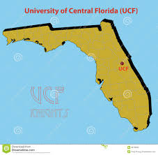 Map Orlando Fl by The 3d Map Of The University Of Central Florida Stock