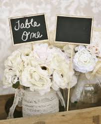 Shabby Chic Wedding Centerpieces by 19 Best Chalkboard Wedding Decorations Images On Pinterest