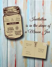 jar wedding invitations custom personalized rustic jar wedding invitation with resp
