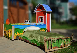 Barn Bed Custom Designed Hand Painted Kids Farm Trundle Bed Abodeacious