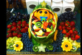 fruit basket ideas baby shower fruit basket gorgeous looked in oval shape with