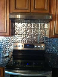 Kitchen Metal Backsplash Ideas Cool Diy Faux Tin Kitchen Backsplash With Vase Top 12 Faux Tin