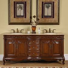 Bathrooms With Double Vanities Shop Silkroad Exclusive Ella English Chestnut Undermount Double