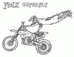freestyle dirt bike coloring pages coloringstar
