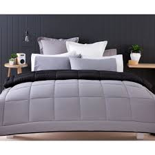 Kmart Comforter Sets Reversible Comforter Set Double Bed Black Kmart