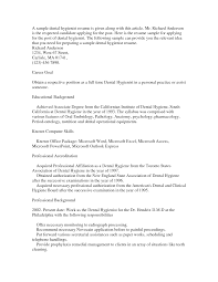 Resume Samples After Maternity Leave by Sample Dental Hygienist Resume Sample Resume Format
