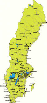 map of sweden sweden map with cities emaps world