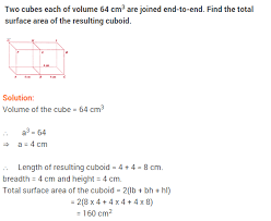 surface areas and volumes ncert extra questions for class 9 maths