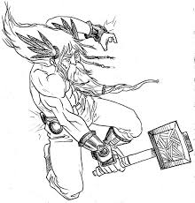 thor coloring pages getcoloringpages com